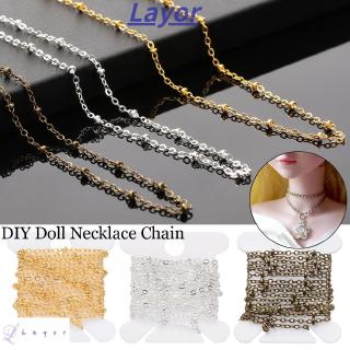 LAYOR 1m Fashion Girl Birthday Gift Metal Diy Cosmetic Female Doll Necklace