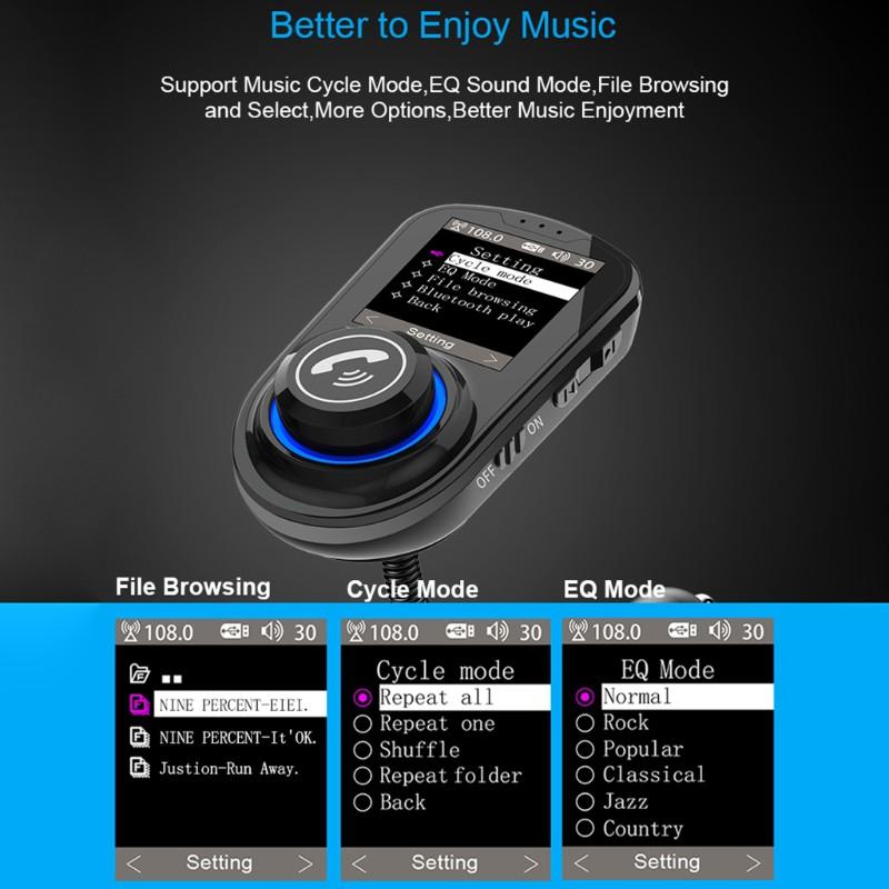 Bộ Chuyển Đổi Bluetooth 5.0 Tích Hợp Đài Fm Mp3 Cho Xe Hơi