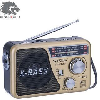 Đài Radio Usb Nghe Nhạc Waxiba Xb-521 Urt-Kèm pin sạc.