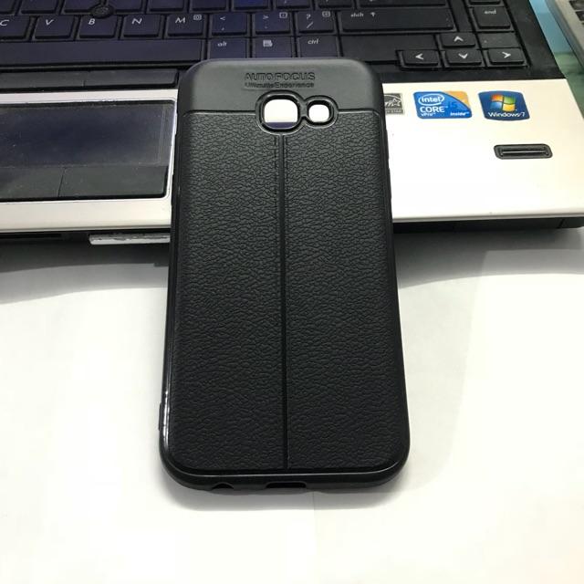 Ốp lưng auto focus Samsung A5 2017/A520 giả da cao cấp
