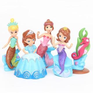 Set 5 đồ chơi mô hình nhân vật nàng tiên cá