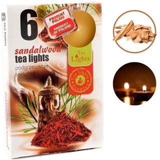 SÁP 6 NẾN thơm tinh dầu Tealight Admit Sandalwood,GỖ ĐÀN HƯƠNG,Trang trí,nhập khẩu châu âu