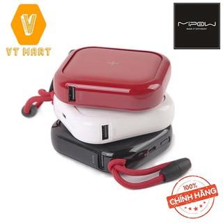 [THẬT TUYỆT VỜI] Sạc Dự Phòng Kiêm Sạc Không Dây Mipow Cube X 10000 PD 18W/Wireless Charger 10W (Version II) VT MART