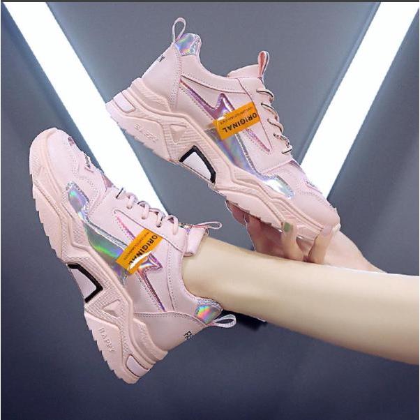 Giày thể thao nữ độn đế cao 3cm siêu đẹp thời trang hàn ( D001 )
