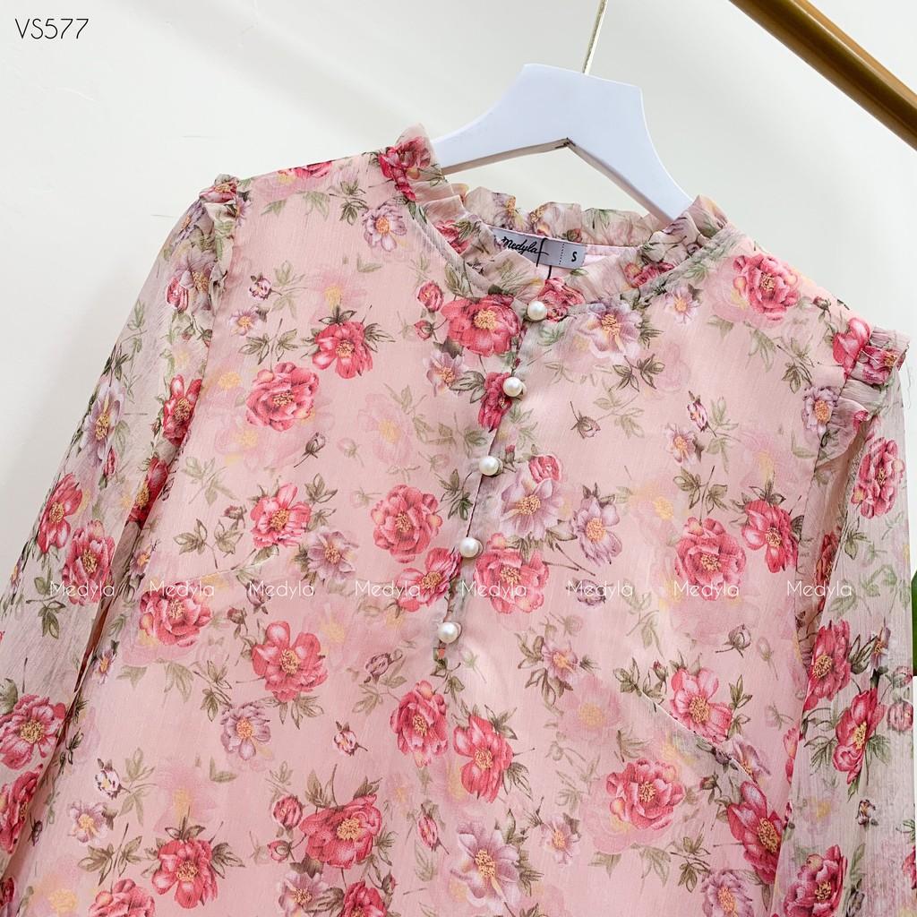 Mặc gì đẹp: Dễ chịu với Váy bầu mùa hè xinh tơ hoa lót lụa, cúc thật full ngực cho bầu đi chơi, du lịch - Đầm bầu công sở thiết kế Medyla - lịch