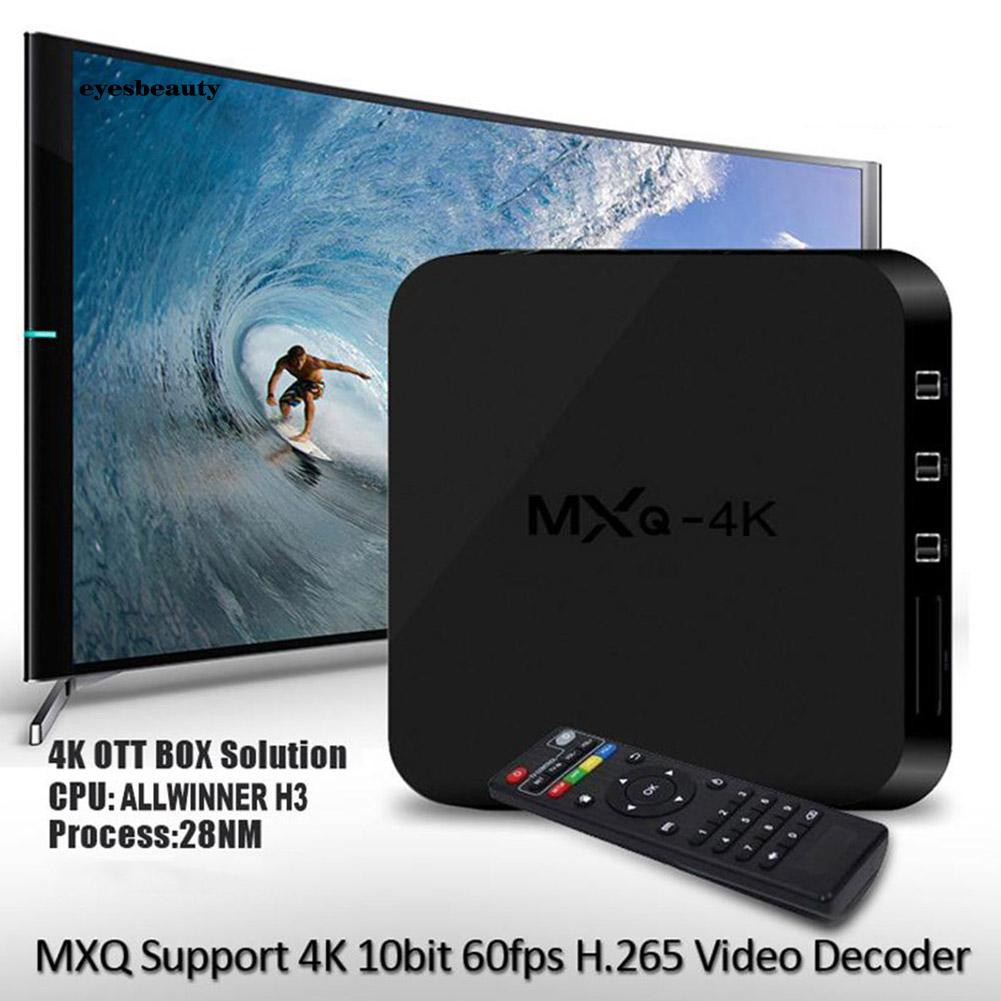 EBTY RK3229 1GB+8GB Smart TV Box Set-top Quad Core Media Player WiFi for Android 7.1 Giá chỉ 502.542₫