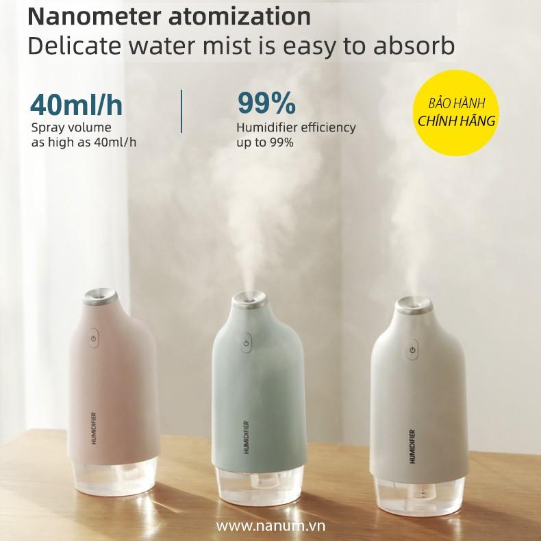 Máy phun sương tạo ẩm không khí Nanum bình chứa 270ml, hoạt động liên tục 7h, đầu phun cao cấp - XXB02