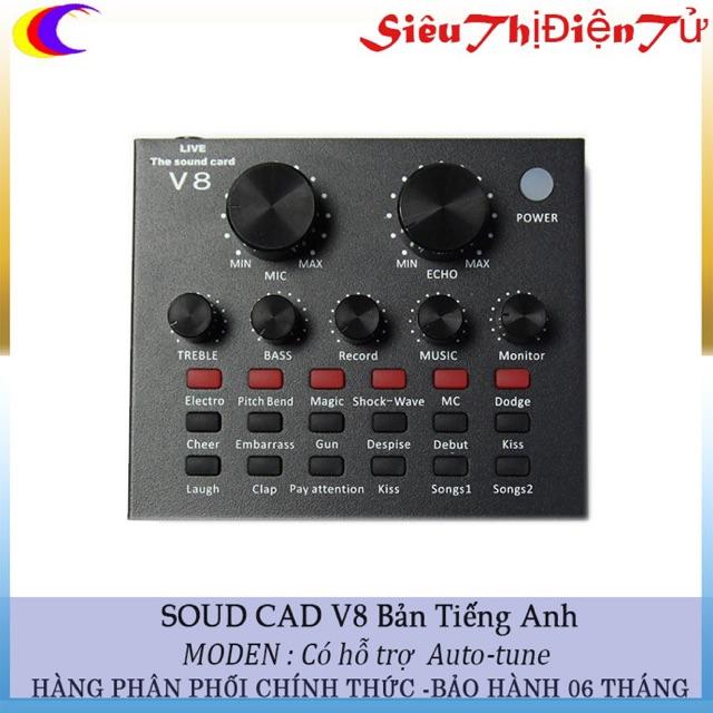 Sound cad V8 có chế độ Autu-tune phiên bản tiếng anh