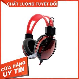 Tai nghe chụp tai chơi game Qinlian A6 (Đen phối đỏ). – Hàng nhập khẩu