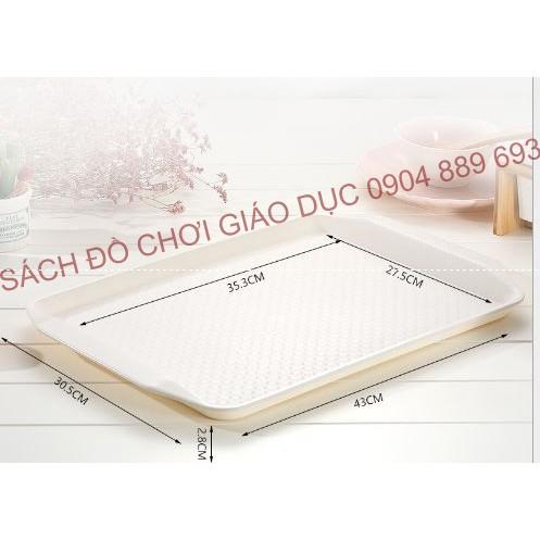 Khay nhựa trắng, khay nhựa chống trơn kích thước 43x30,5x2,8cm - Montessori thực hành cuộc sống - 2639611 , 1300592559 , 322_1300592559 , 70000 , Khay-nhua-trang-khay-nhua-chong-tron-kich-thuoc-43x305x28cm-Montessori-thuc-hanh-cuoc-song-322_1300592559 , shopee.vn , Khay nhựa trắng, khay nhựa chống trơn kích thước 43x30,5x2,8cm - Montessori thực h
