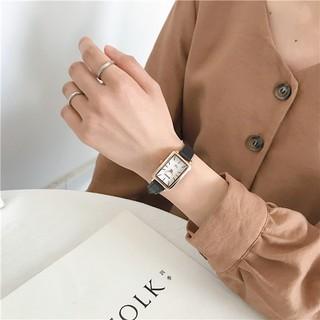 Đồng hồ nữ Barsh BV022 chính hãng, kiểu dáng thời trang, phong cách Hàn Quốc, mặt chữ nhật cá tính