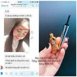 Tinh chất mọc mi NS Makeup tặng chuốt mi 4D và kẹp mi thumbnail