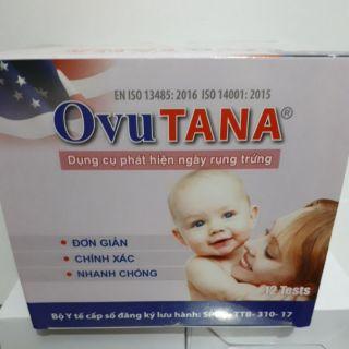 Que thử rụng trứng OvuTana: Sinh con theo ý muốn ( Hộp 12 que)