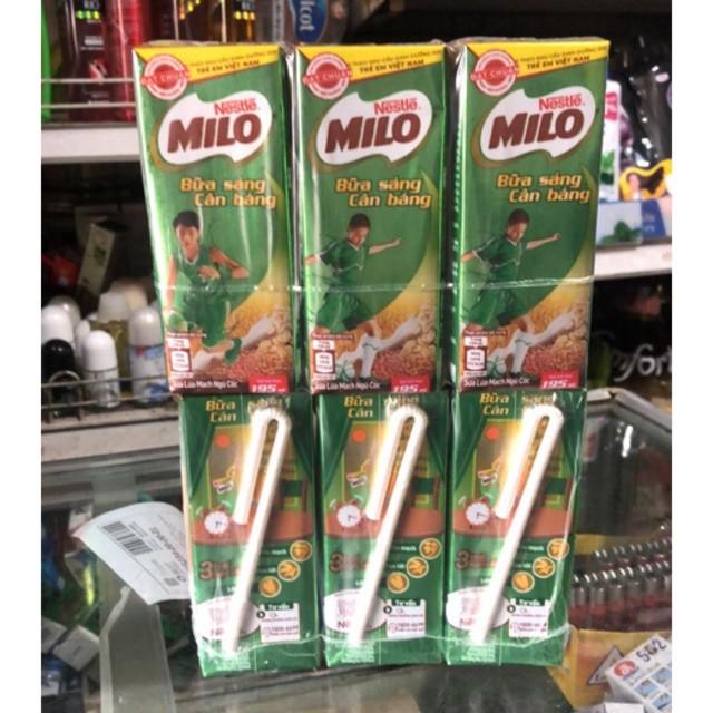 [Beman123]  Sữa Lúa Mạch ngũ cốc Milo vỉ (3 x 195ml)