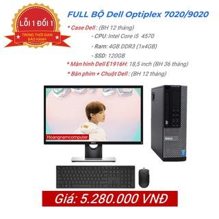 Bộ cây máy tính để bàn văn phòng Dell 3020/9020/ 7020 Core i5 4570, màn hình Dell , bàn phím chuột Dell hàng nhập khẩu