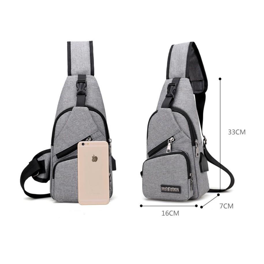 TÚI NAM ĐEO CHÉO PHONG CÁCH HÀN QUỐC + TẶNG KÈM DÂY SẠC USB