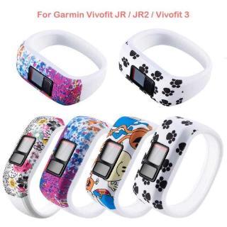 Dây Đeo Thay Thế Chất Liệu Silicon Thiết Kế Nhiều Lỗ Cho Garmin Vivofit Jr / Jr2 / Vivofit 3