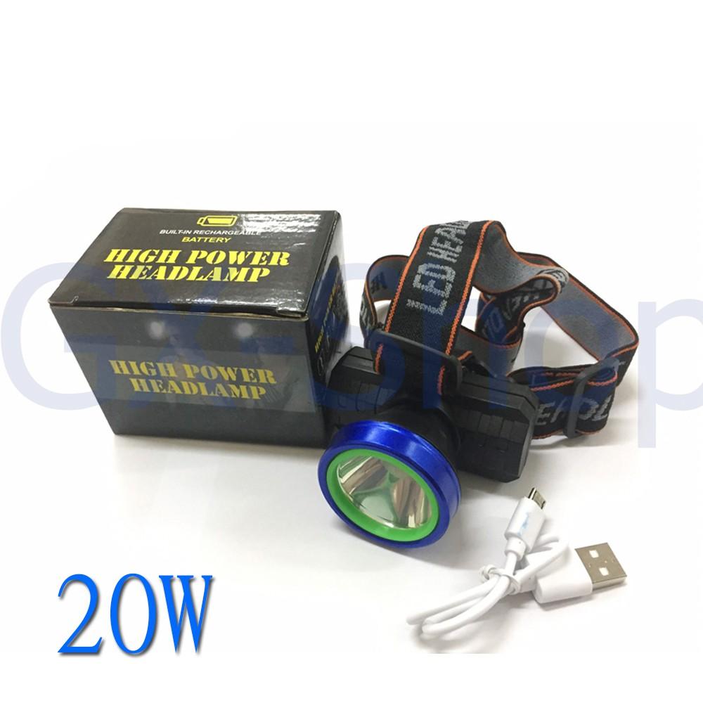 ไฟฉาย+สายยางคาดศรีษะ ไฟฉายคาดหัว 20W /1092