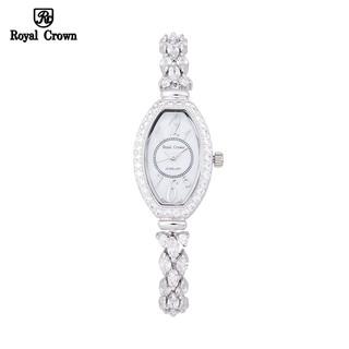 Đồng Hồ Nữ Chính Hãng Royal Crown 63813 Dây Đá Vỏ Trắng thumbnail