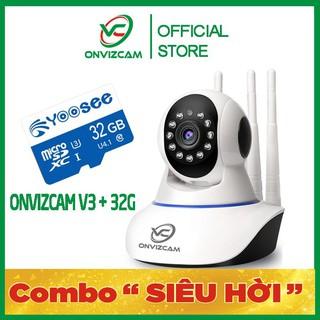 [COMBO ONVIZCAM V3 + 32G] Camera thông minh chính hãng ONVIZ Việt Nam model V3 nâng cấp từ yoosee, carecam pro
