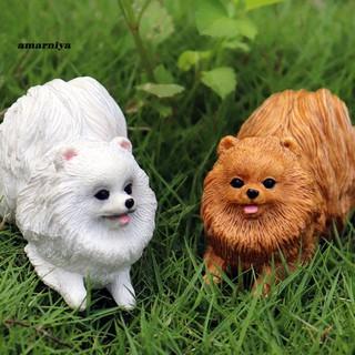AY-ᴥLovely Pomeranian Dog Animal Action Figure Model Home Decor Education Kids Toy