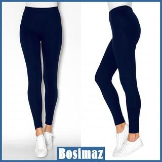 Quần Legging Nữ Bosimaz MS013 dài không túi màu xanh navy cao cấp, thun co giãn 4 chiều, vải đẹp dày, thoáng mát. thumbnail