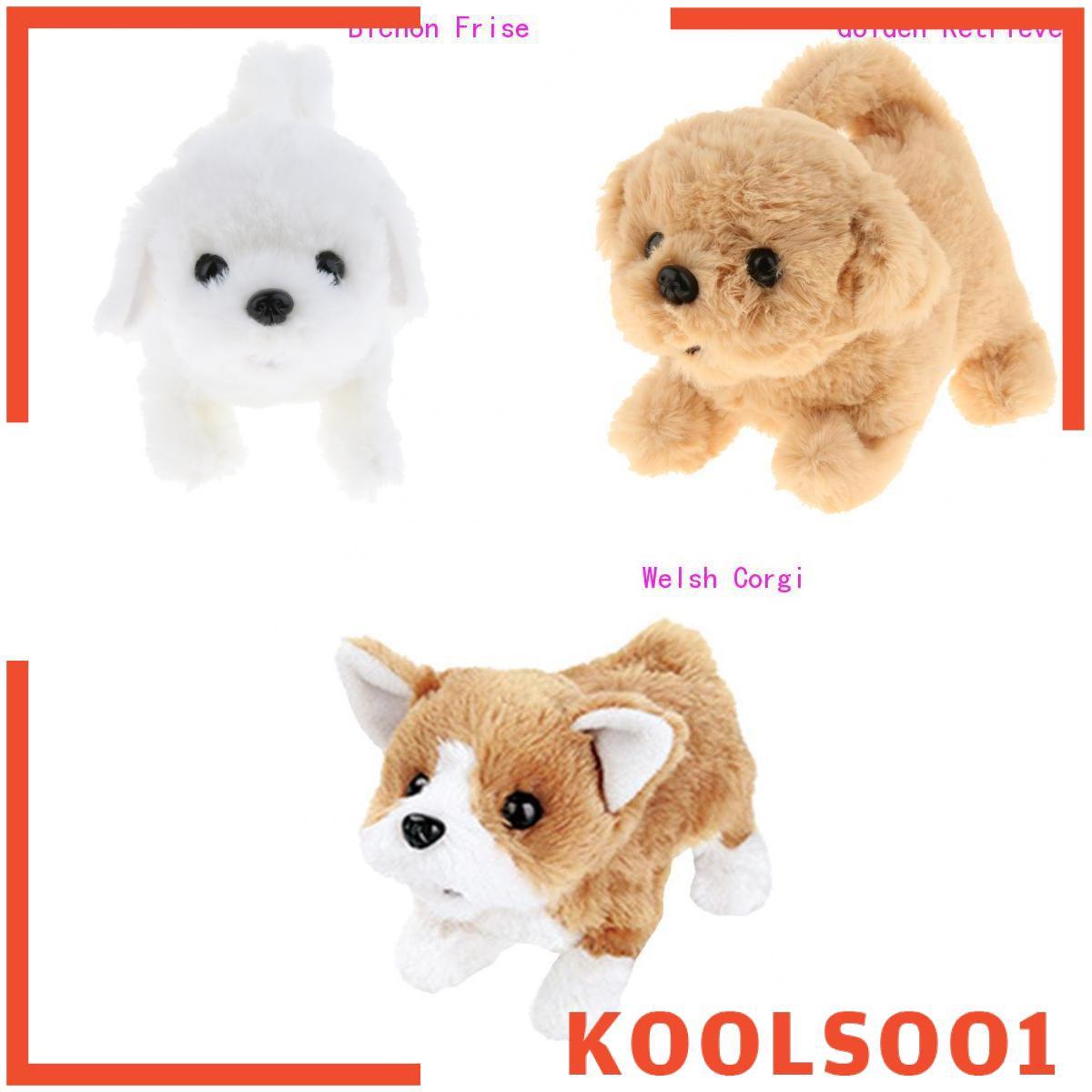 [KOOLSOO1] Smart Interactive Pet Dog Electronic Plush Puppy Golden Retriever Corgi Kids Toy