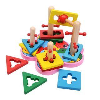 Freeship đơn 99k – Đồ chơi gỗ cao cấp – tư duy logic với hình khối