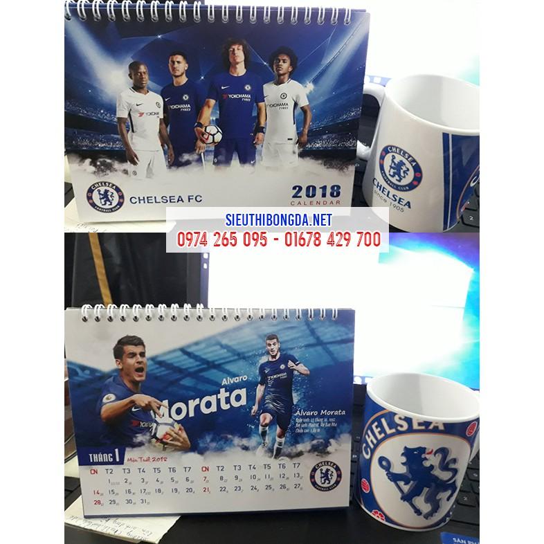 Lịch để bàn Chelsea 2018