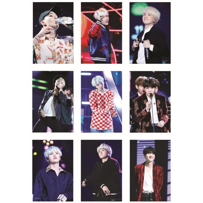 [GTJUL182809 GIẢM 25K CHO ĐƠN HÀNG ĐẦU TIÊN TỪ 99K] Lomo card ảnh thành viên BTS SUGA on stage Full