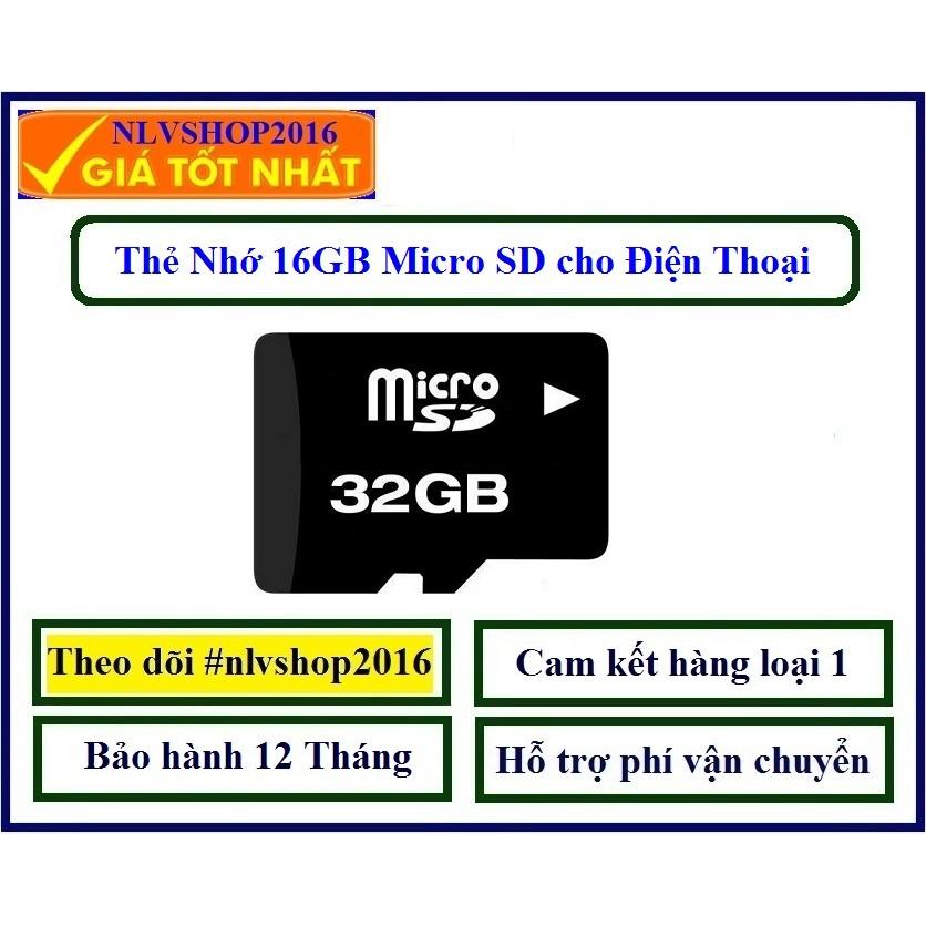 Thẻ nhớ 32GB micro SD (Đen) BH 12 Tháng