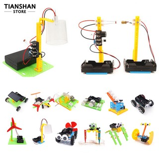 6/9/12Pcs DIY Assembly Pulley Puzzle Toy Students Science Educational Model Set