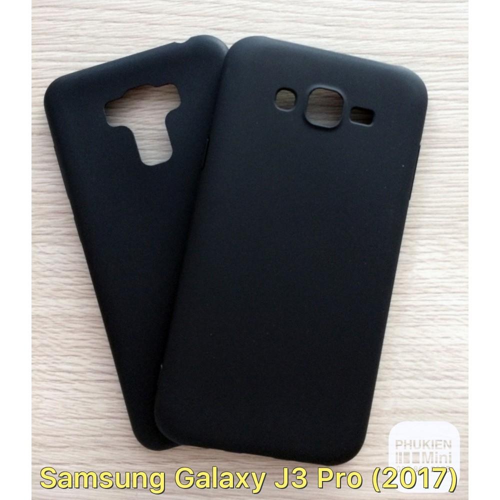Ốp lưng dẻo nhám màu đen cho Galaxy J3 Pro