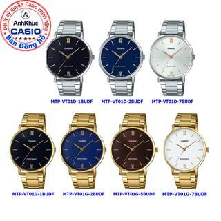 Đồng hồ nam Casio MTP-VT01 MTP-VT01D MTP-VT01G MTP-VT01SG bảo hành 1 năm chính hãng Anh Khuê thumbnail