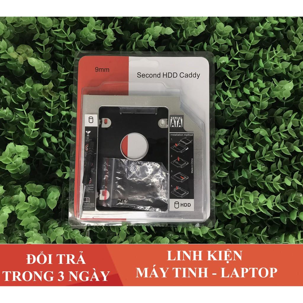 💥 Khay Ổ Cứng Caddy Bay HDD SSD SATA 3 9.5mm /  12.7mm ( Mỏng ) Lắp Ổ Cứng Thứ 2 cho Laptop - chất liệu Nhôm
