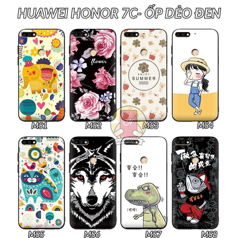 Ốp lưng Huawei Honor 7C dẻo đen in hình Phần C