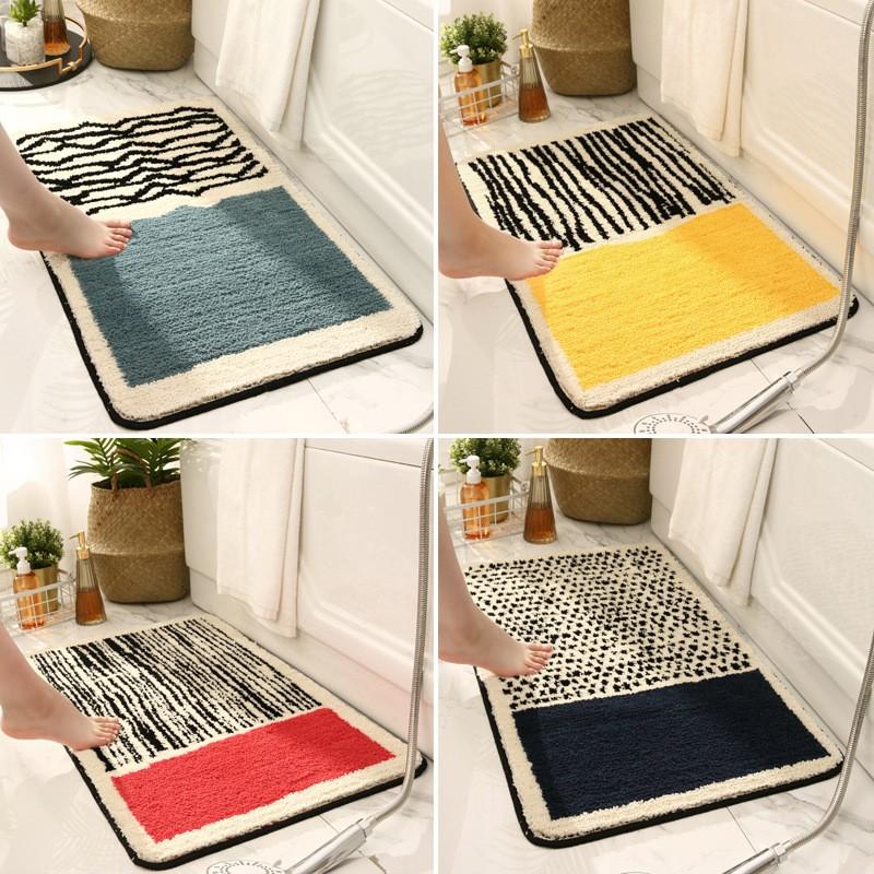 Thảm lau chân nhà tắm sợi cotton siêu thấm nước chống trơn trượt