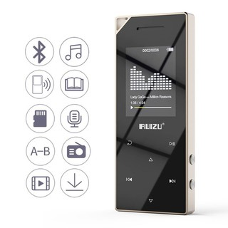RUIZU D05 Metal Bluetooth MP3 Player Portable Audio 8GB Sport Mp3 Music Player With Built-in Speaker FM Radio Support TF Card thumbnail