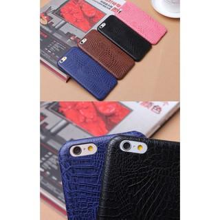 Ốp iPhone Giả Da Cá Sấu/ Da Bò (Đen/ Nâu)