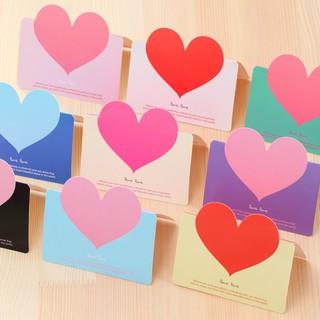 Thiệp sinh nhật, valentine hình trái tim nhiều sắc màu