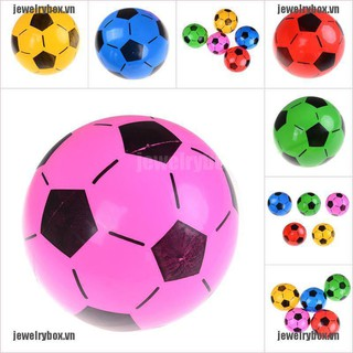 JX 1PC Inflatable PVC Football Soccer Ball Kids Children Beach Pool Sports Ball Toy[VN]