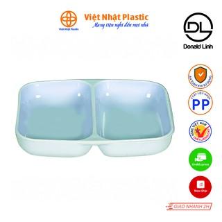 Đĩa Chấm 2 Ngăn, Đĩa Đựng Gia Vị Việt Nhật Plastic 1205 thumbnail