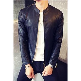 áo khoác da nam kiểu đơn giản