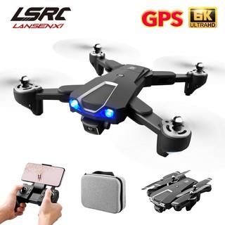 Máy bay điều khiển từ xa , Flycam mini giá rẻ LSRC LS25 GPS wifi 5G 6K HD Dual Camera kép ảnh truyền trực tiếp