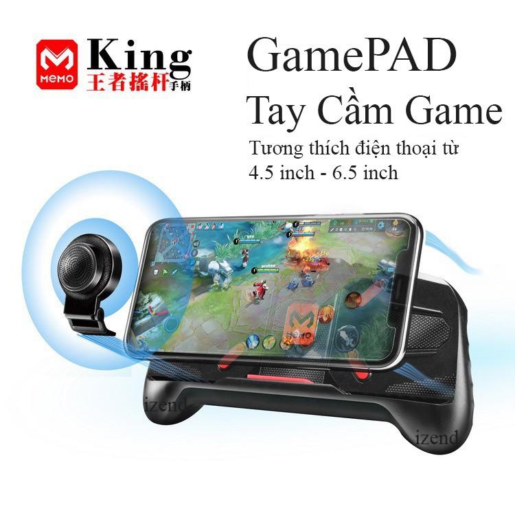 [Nhập mã GHNGIZEND giảm 30k] Gamepad Tay cầm game King MEMO cho điện thoại làm giá đỡ xem phim