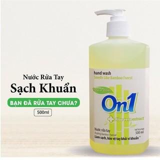 Nước rửa tay sạch khuẩn On1 500ml hương BamBoo Charcoal - RT504-2
