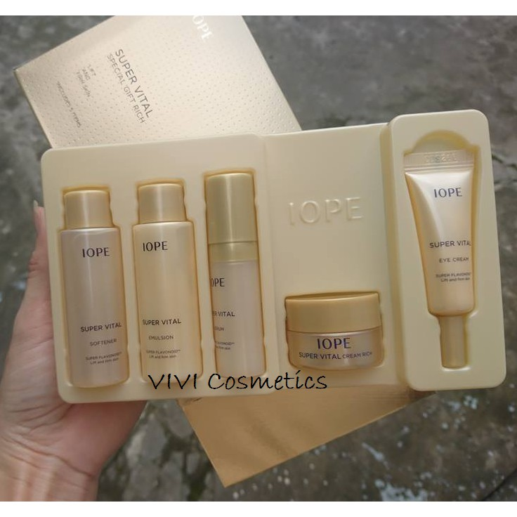 TRẢ ORDER Bộ kit IOPE Super Vital Special Gift #Rich