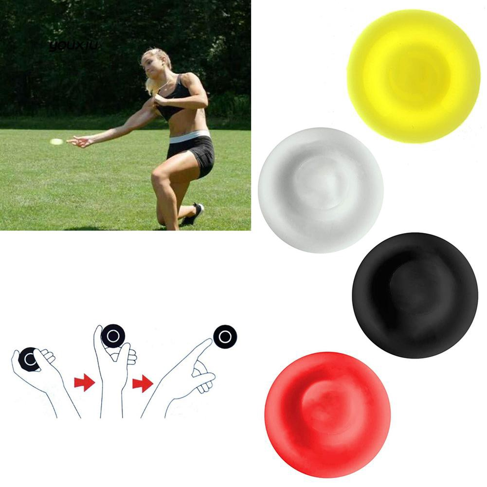 YX❤Outdoor Sports Mini Silicone Flying Disc Throwing Chip Kids Adult Catch Game Toy