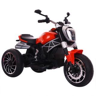 Xe máy điện moto 3 bánh DUCATI MONSTER 1600 đồ chơi đạp ga cho bé vận động 2 động cơ (Xanh-Đỏ-Trắng)