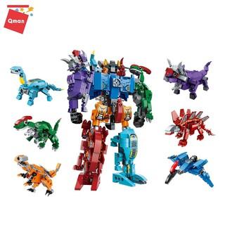 Bộ sản phẩm đồ chơi ghép hình QMAN 1414- Siêu Robot Khủng Long